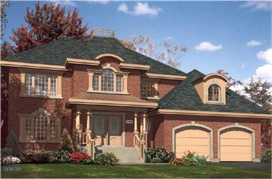 3-Bedroom, 2224 Sq Ft European Home Plan - 158-1091 - Main Exterior