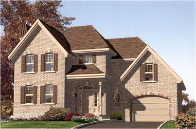 3-Bedroom, 1538 Sq Ft European Home Plan - 158-1093 - Main Exterior