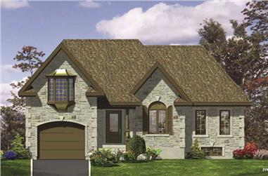 3-Bedroom, 976 Sq Ft European Home Plan - 158-1094 - Main Exterior