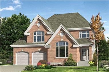3-Bedroom, 1432 Sq Ft European House Plan - 158-1096 - Front Exterior