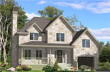 3-Bedroom, 1416 Sq Ft Country Home Plan - 158-1097 - Main Exterior