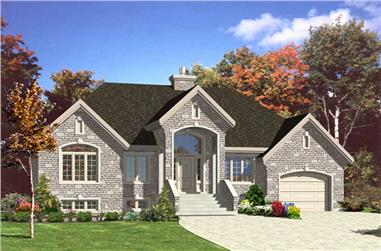 2-Bedroom, 1326 Sq Ft Ranch House Plan - 158-1098 - Front Exterior