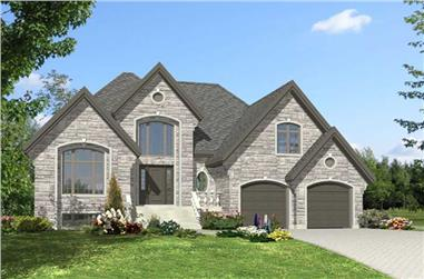 2-Bedroom, 1639 Sq Ft Bungalow Home Plan - 158-1100 - Main Exterior