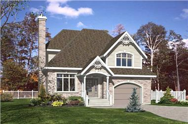 3-Bedroom, 1383 Sq Ft Country House Plan - 158-1101 - Front Exterior