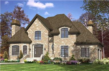 3-Bedroom, 2253 Sq Ft European House Plan - 158-1103 - Front Exterior