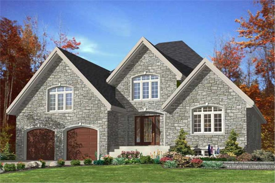 158 1105 this is the front elevation for these traditional house plans - Traditional House Plans