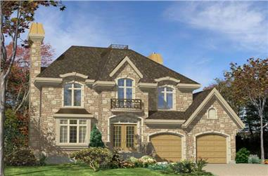 4-Bedroom, 2459 Sq Ft European House Plan - 158-1108 - Front Exterior