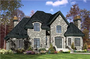 4-Bedroom, 2895 Sq Ft European House Plan - 158-1110 - Front Exterior