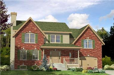 3-Bedroom, 1460 Sq Ft Country House Plan - 158-1111 - Front Exterior