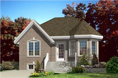 2-Bedroom, 874 Sq Ft Bungalow Home Plan - 158-1112 - Main Exterior