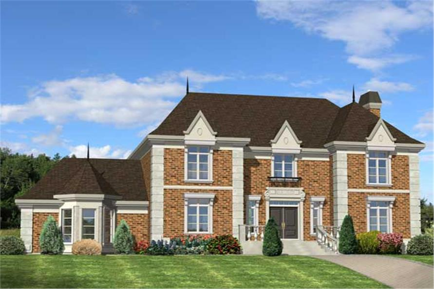 This is a nice computerized 3D rendering for these Luxury Home Plans.