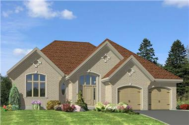 2-Bedroom, 1632 Sq Ft Ranch Home Plan - 158-1116 - Main Exterior