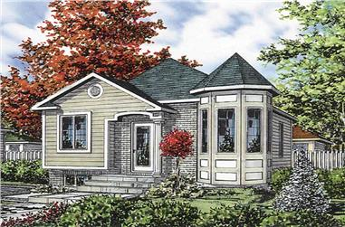 2-Bedroom, 865 Sq Ft Bungalow Home Plan - 158-1119 - Main Exterior