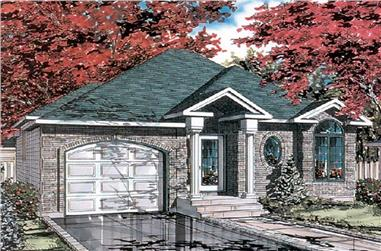 2-Bedroom, 952 Sq Ft Bungalow House Plan - 158-1121 - Front Exterior