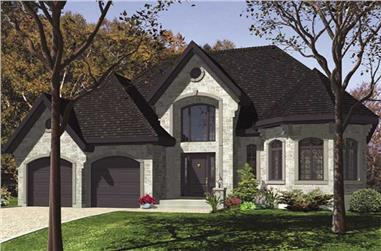3-Bedroom, 1324 Sq Ft Ranch Home Plan - 158-1122 - Main Exterior