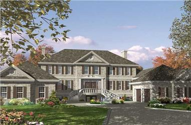 3-Bedroom, 3570 Sq Ft European Home Plan - 158-1123 - Main Exterior