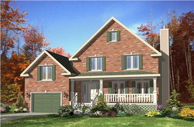 3-Bedroom, 1352 Sq Ft Country Home Plan - 158-1124 - Main Exterior