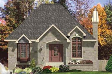 3-Bedroom, 1008 Sq Ft Ranch Home Plan - 158-1126 - Main Exterior