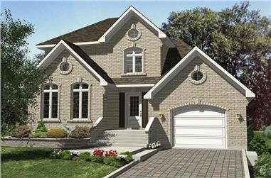 3-Bedroom, 1390 Sq Ft European Home Plan - 158-1127 - Main Exterior