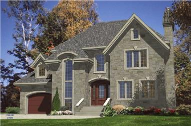 3-Bedroom, 1492 Sq Ft European Home Plan - 158-1129 - Main Exterior