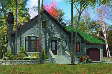 3-Bedroom, 1214 Sq Ft Bungalow Home Plan - 158-1130 - Main Exterior