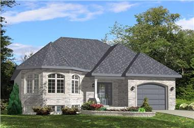 2-Bedroom, 1202 Sq Ft Bungalow Home Plan - 158-1132 - Main Exterior
