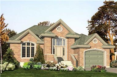 2-Bedroom, 1305 Sq Ft Bungalow Home Plan - 158-1133 - Main Exterior