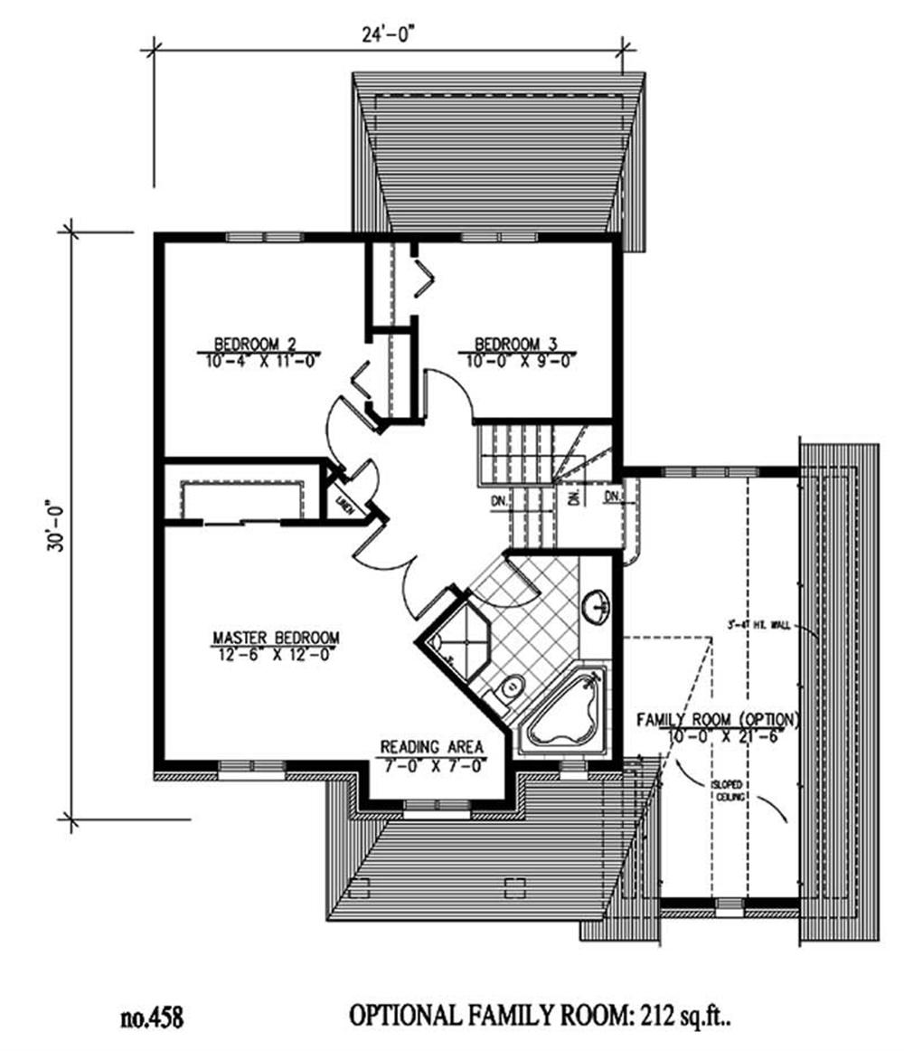 Large images for house plan 158 1135 for Second story floor plan