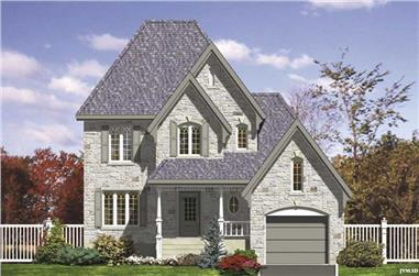 3-Bedroom, 1469 Sq Ft Country Home Plan - 158-1135 - Main Exterior