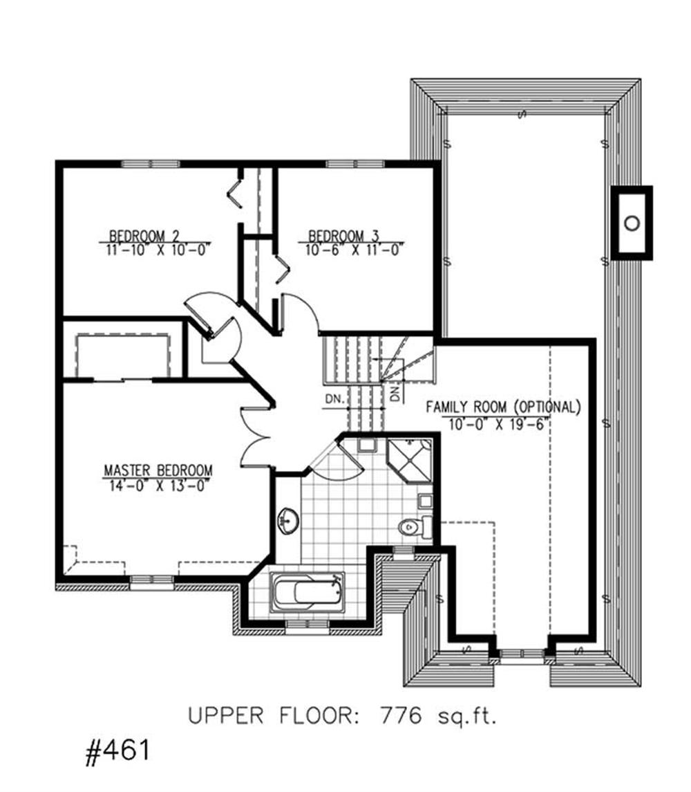Large images for house plan 158 1138 for Second story floor plan