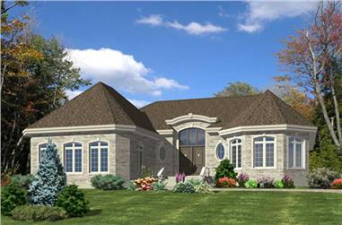 2-Bedroom, 1776 Sq Ft Bungalow Home Plan - 158-1139 - Main Exterior