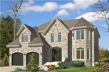 3-Bedroom, 2482 Sq Ft European Home Plan - 158-1141 - Main Exterior