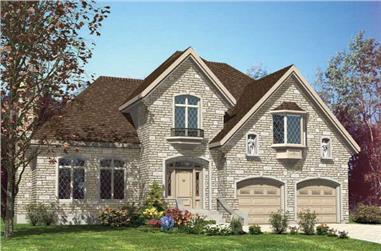4-Bedroom, 2397 Sq Ft European House Plan - 158-1143 - Front Exterior