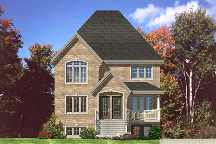 3-Bedroom, 3212 Sq Ft Multi-Unit House Plan - 158-1144 - Front Exterior
