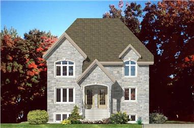 2-Bedroom, 2982 Sq Ft Multi-Unit Home Plan - 158-1146 - Main Exterior