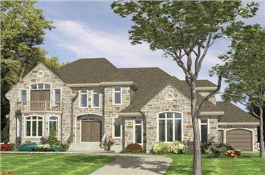 3-Bedroom, 3480 Sq Ft European Home Plan - 158-1147 - Main Exterior