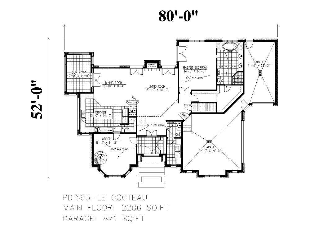 158-1147 house plan first floor