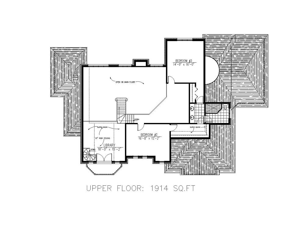 158-1147 house plan second story