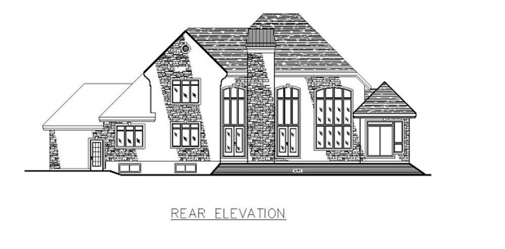 158-1147 house plan rear elevation