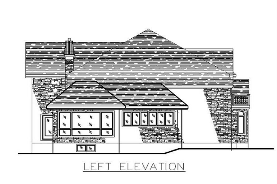 Home Plan Left Elevation of this 3-Bedroom,3480 Sq Ft Plan -158-1147