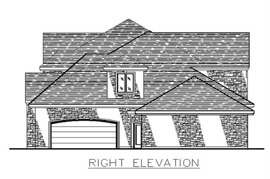 Home Plan Right Elevation of this 3-Bedroom,3480 Sq Ft Plan -158-1147