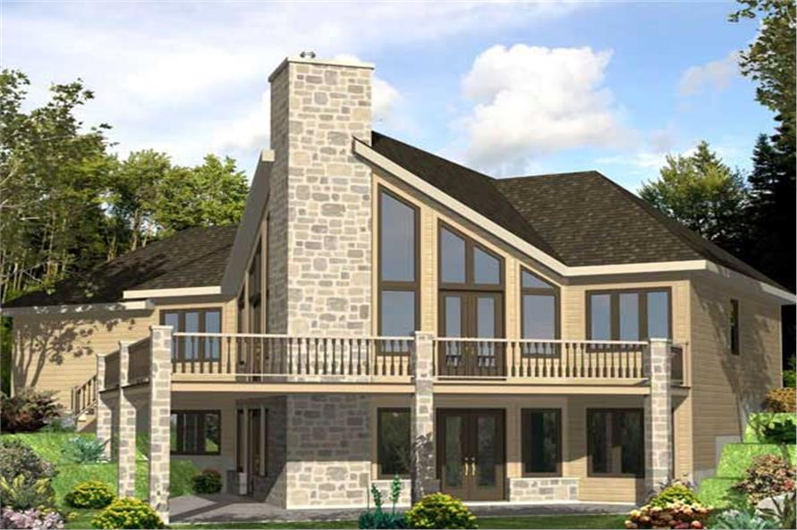 This is a computerized rendering for these Contemporary Home Plans.