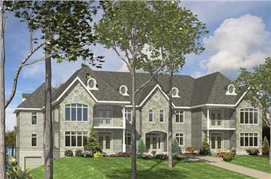 3-Bedroom, 10456 Sq Ft European Home Plan - 158-1151 - Main Exterior