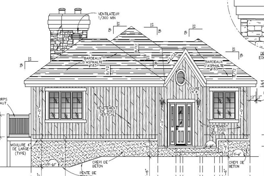 158-1153: Home Plan Front Elevation