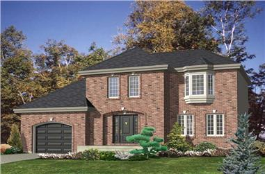 3-Bedroom, 2155 Sq Ft European Home Plan - 158-1154 - Main Exterior
