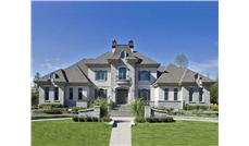This is the front elevation for these European Luxury Home Plans.