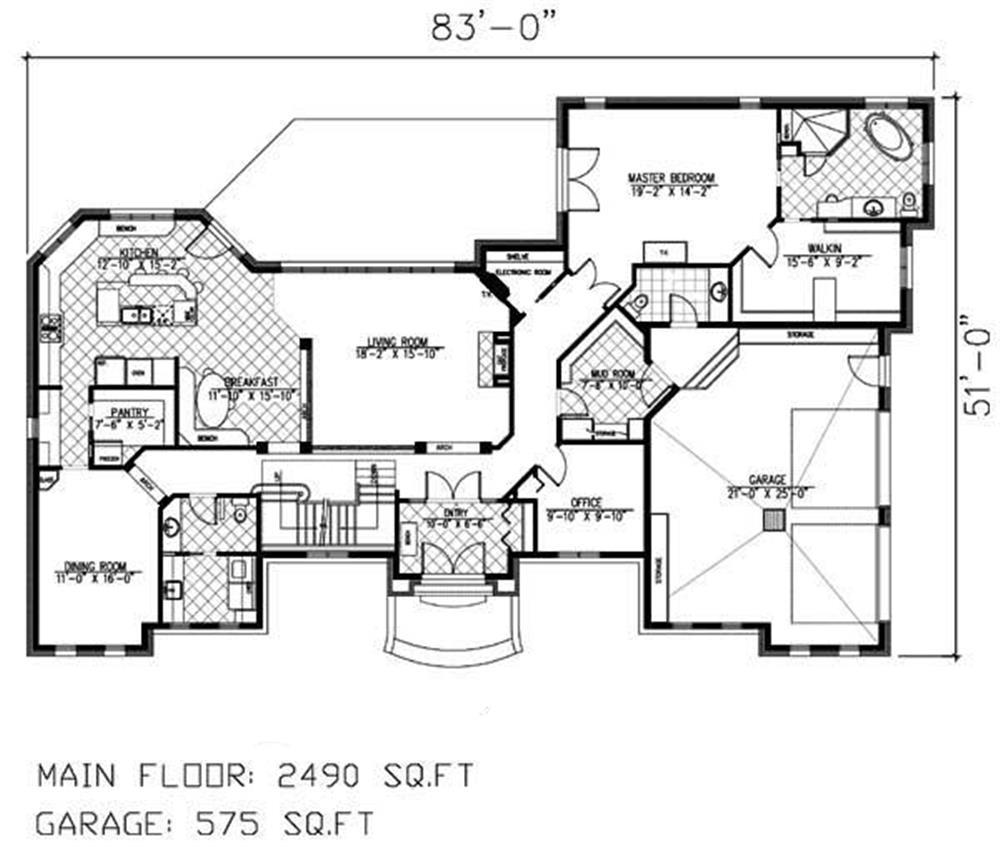 158-1160: Floor Plan Main Level