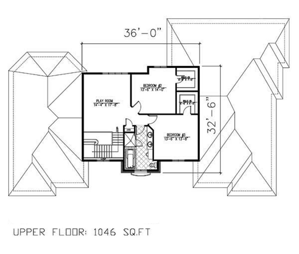 158-1160: Floor Plan Upper Level
