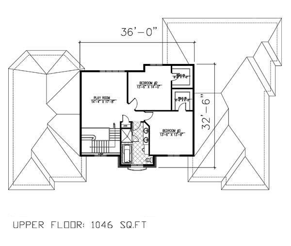 158-1160: Floor Plan Upper Level