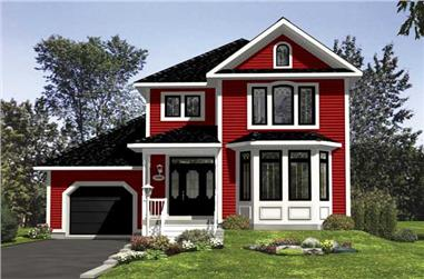 3-Bedroom, 1510 Sq Ft Country Home Plan - 158-1161 - Main Exterior